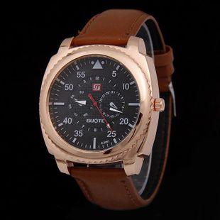 Simple gear double scale belt quartz watch NHHK143413's discount tags