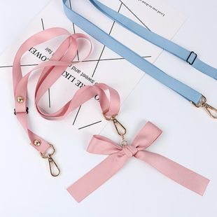 Fashion diagonal straddle phone case bow lanyard NHJP143441's discount tags