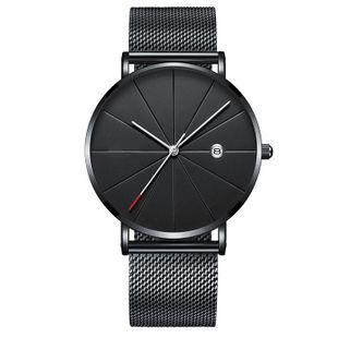 Sleek minimalist design quartz  business watch NHSY143460's discount tags