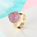 Fashion natural stone resin colored round ring NHGO142740