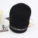 Korean wild student simple knit hat NHXO143311