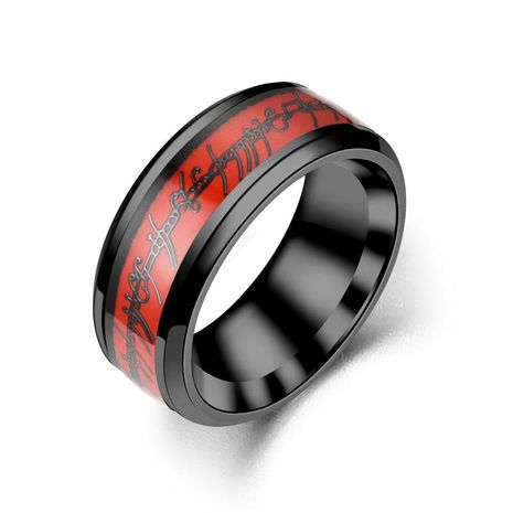 Fashion new red shade titanium steel rings NHTP143469's discount tags
