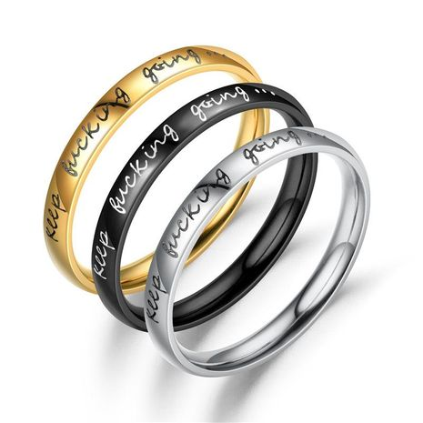 Fashion English alphabet stainless steel ring NHTP143471's discount tags