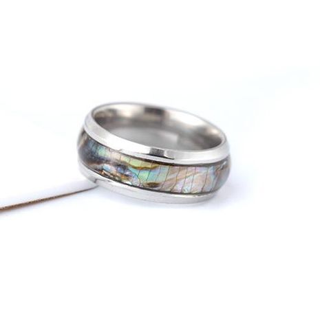 Fashion color shellfish stainless steel ring NHTP143473's discount tags