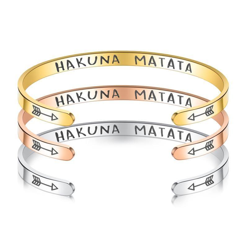 New titanium steel C-shaped bracelet NHTP143475