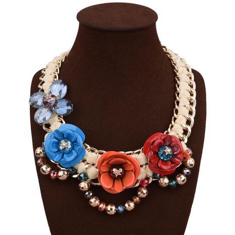 Grand collier fleurs fantaisie NHVA143487's discount tags