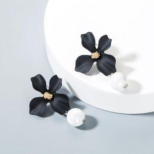 Nuevos aretes de perlas de flores de pintura en aerosol NHLN143523's discount tags