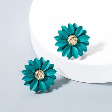 Cute flowers stud earrings NHLN143525