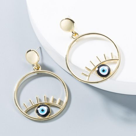 Simple Alloy Face Eye Earrings NHLN143528's discount tags