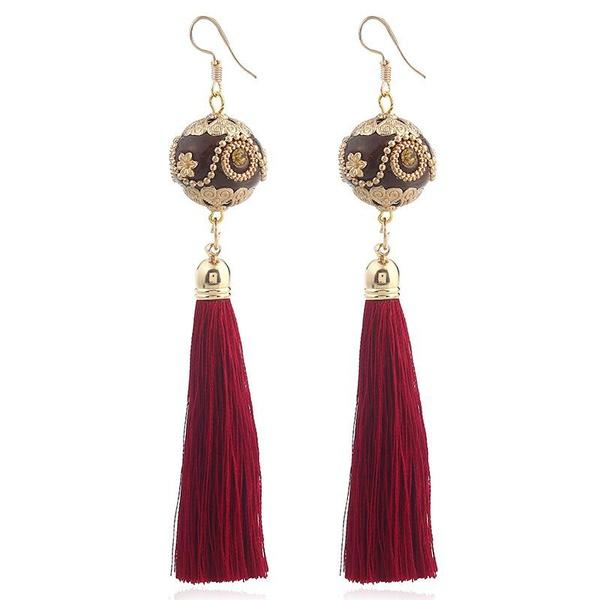Fashion clay mud tassel earrings NHVA143553