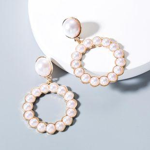 Aretes redondos de perlas simples NHLN143555's discount tags