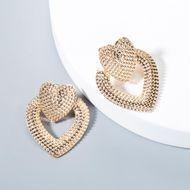 Vintage love geometric metal earrings NHLN143564