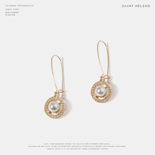 Fashion Beads Round Face Loss Earrings NHQS143708's discount tags