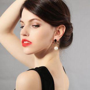 Moda vintage de piedras preciosas con aretes de perlas de diamantes NHQD143717's discount tags