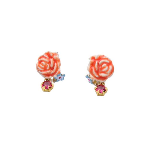 Clear and simple simple flower lady earrings NHQD143722