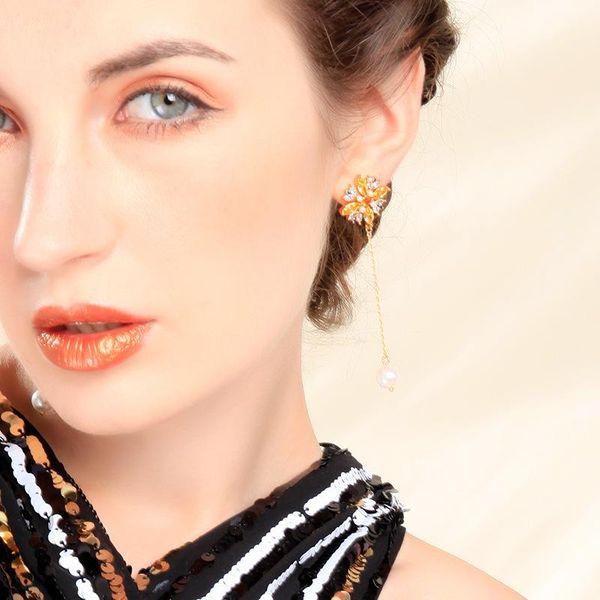 Temperament simple beads face thin earrings NHQD143732