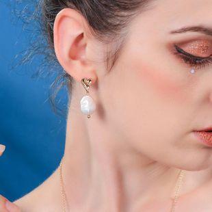 Aretes de aleación de baño de lágrima para mujer NHQD143787's discount tags