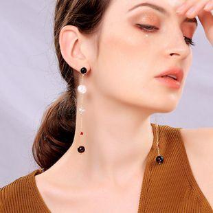 Pendientes de perlas adelgazantes de cara larga de moda NHQD143801's discount tags