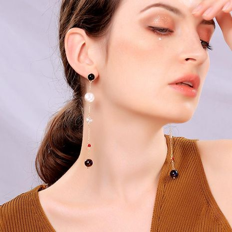 Fashion long face slimming beads earrings NHQD143801's discount tags