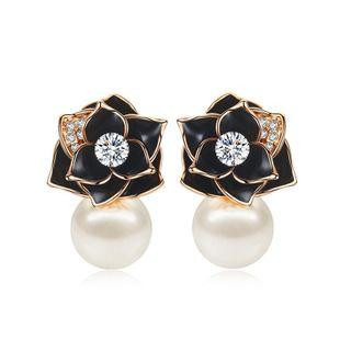 Fashion temperament rose beads pendant earrings NHLJ143807's discount tags