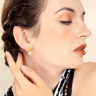 Pendientes simples de oro chapado en perlas de moda NHQD143826's discount tags