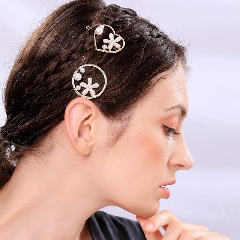 Fashion flower love circle hollow hair accessories NHQD143829
