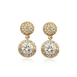 Exquisite full rhinestone round rhinestone imitated crystal earrings NHLJ143866's discount tags