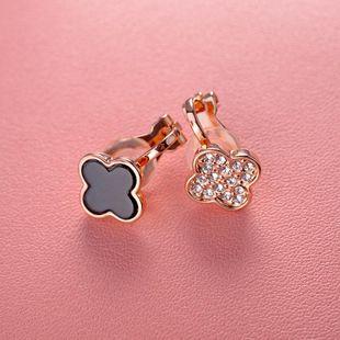 Stylish new rhinestone-studded asymmetric ear clips NHLJ143873's discount tags