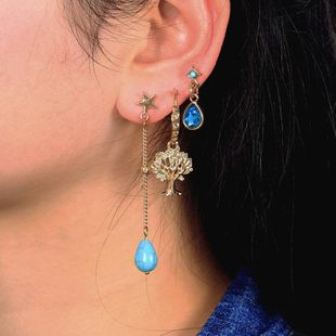 Stylish and simple rhinestone stud earrings NHNZ143875's discount tags