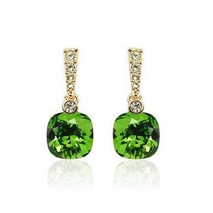 Exquisite luxury rhinestone-studded imitated crystal earrings NHLJ143886's discount tags