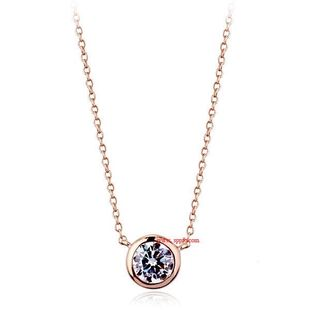 Exquisite round imitated crystal necklace NHLJ143888's discount tags
