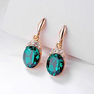Stylish Austrian imitated crystal high-end earrings NHLJ143916's discount tags