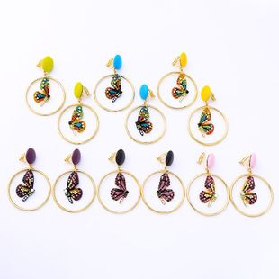 Temperament colorful butterfly forest earrings NHQD143927's discount tags