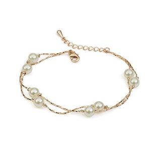 Korean version of the simple double beads bracelet NHLJ143928's discount tags