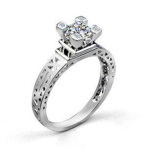 Stylish Luxury Romantic Paris Tower Zircon Ring NHLJ143931's discount tags