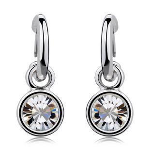 High-grade minimalist Austrian imitated crystal earrings NHLJ143936's discount tags