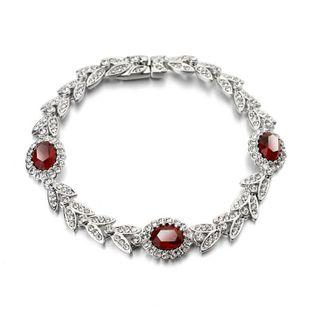 Fashion vintage palace wind olive branch imitated crystal bracelet NHLJ143940's discount tags