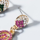 New color rhinestone cactus flamingo earrings NHLN143667
