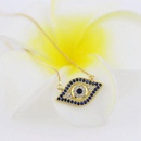Fashion color zircon glasses necklace NHLN143675