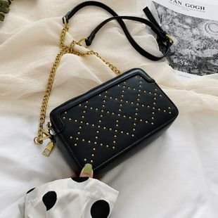 Fashion wild personality rivet shoulder bag NHTC144037's discount tags