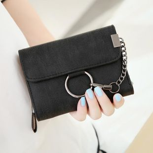 Simple matte oil metal chain wallet NHNI144108's discount tags