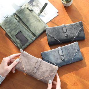 Korean version of the hollow lace multi-function large capacity long wallet NHNI144149's discount tags