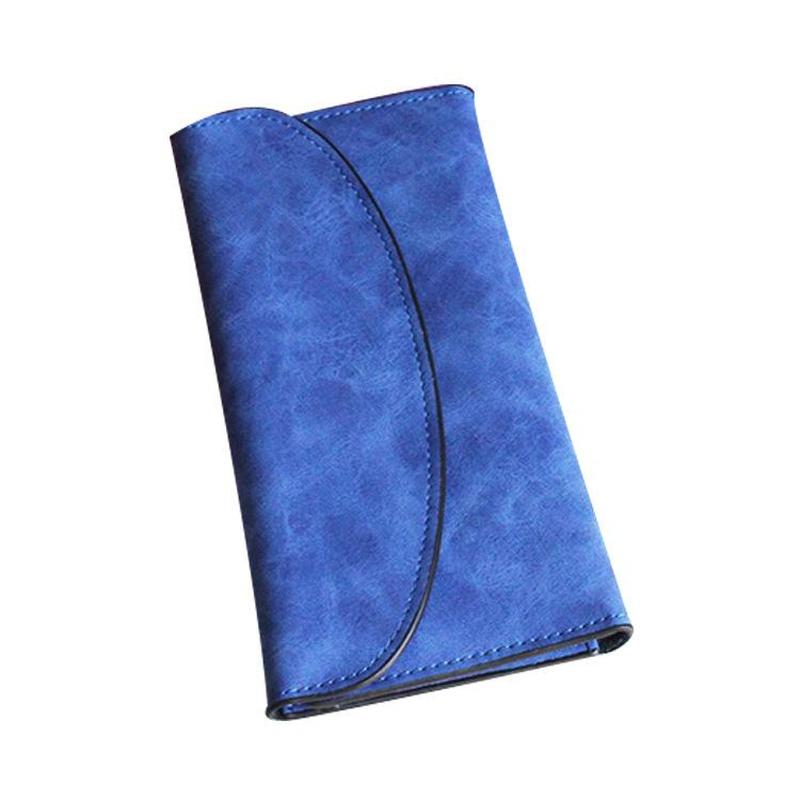 Matte leather vintage envelope cover buckle wallet NHNI144168