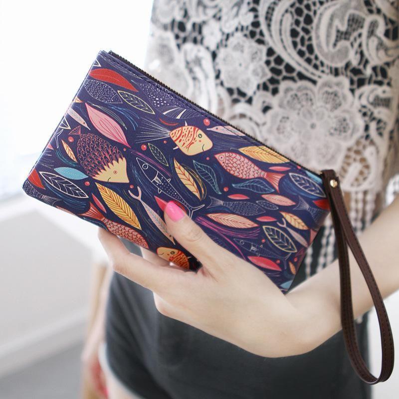 Cute zipper large capacity wallet NHNI144193