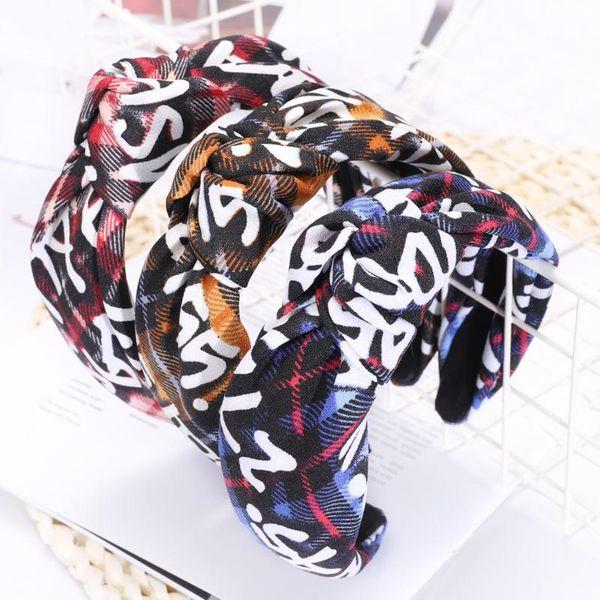 New handmade cloth LOVE letters knotted headband NHOU144358