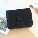 Korean version of matte leather solid color hollow short wallet NHNI143989