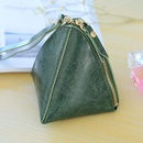 PU leather tweezers solid color stitching purse NHNI144131