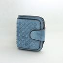 Woven PU leather simple oil side buckle multicard multifunction short wallet NHNI144184