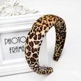 NHOU229548-Dark-brown-leopard-sponge-headband