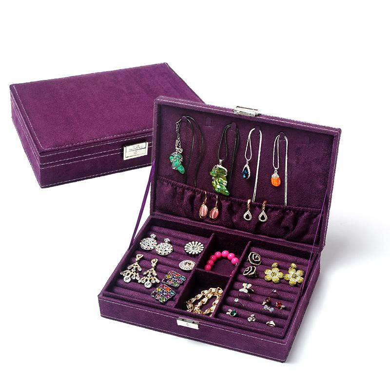 Caja de almacenamiento de caja de almacenamiento rectangular larga de terciopelo de ciervo de moda NHHW144377